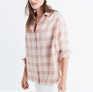Madewell Danville oversized central plaid shirt XS